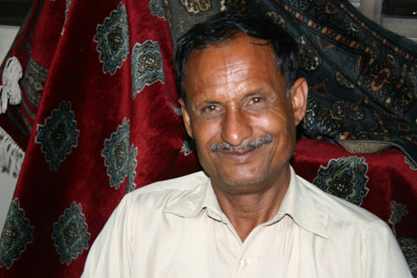 Village supervisor Liaqat in Lengha, Pakistan.